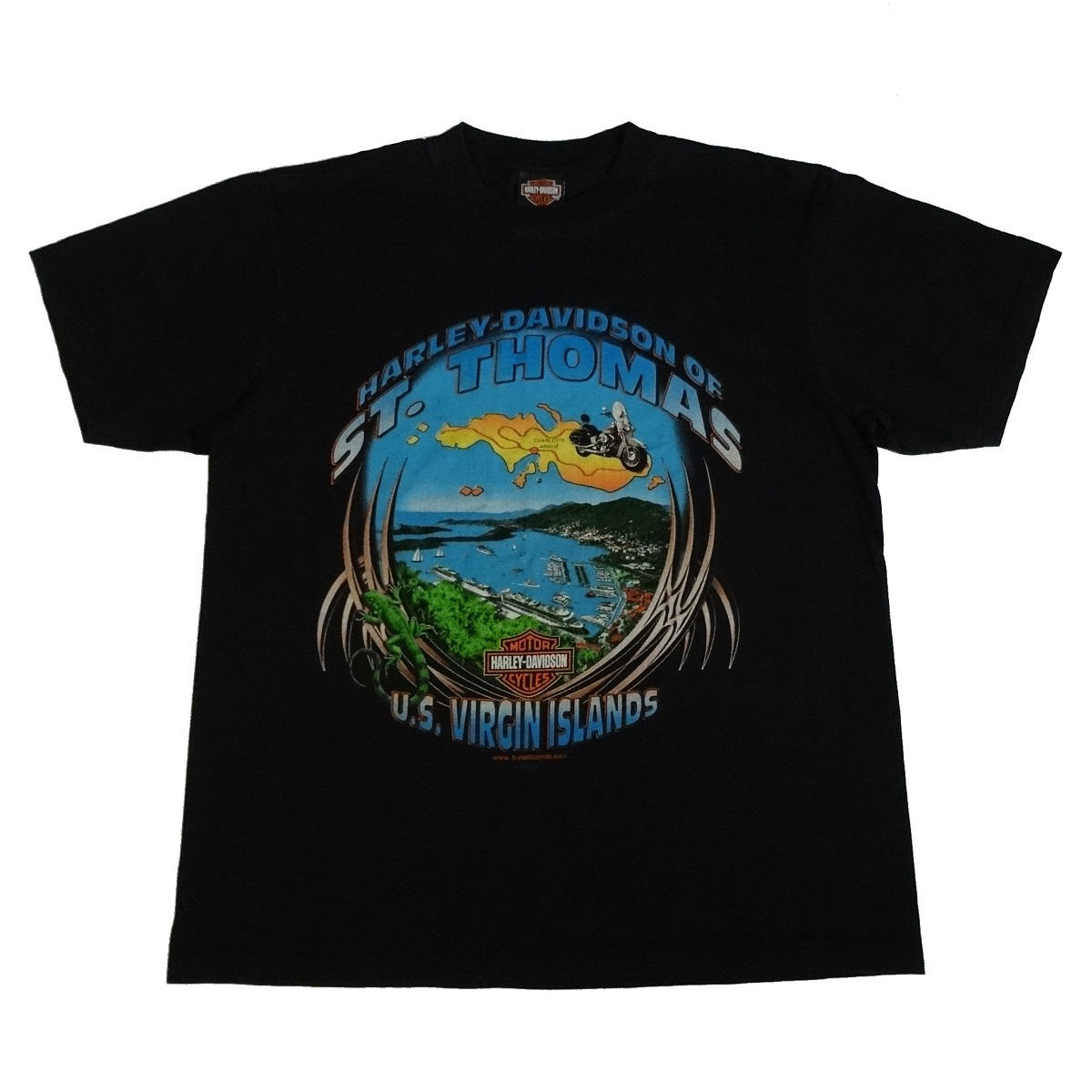st thomas virgin islands harley davidson t shirt front
