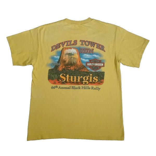 sturgis 2006 harley davidson t shirt devils tower back