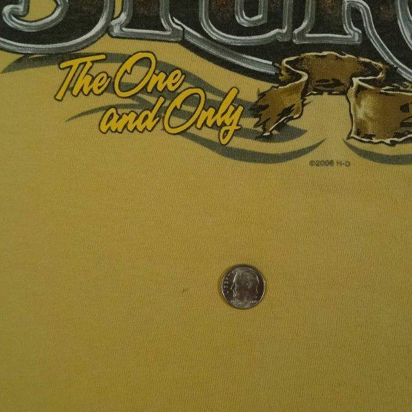 sturgis 2006 harley davidson t shirt devils tower date year stain