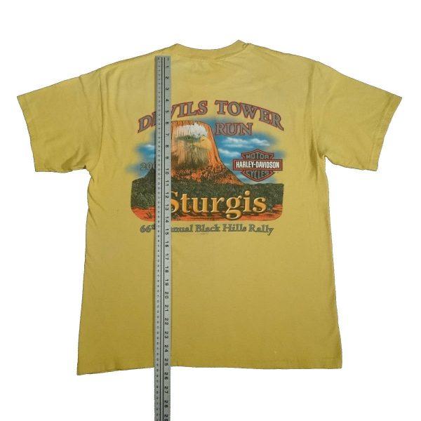 sturgis 2006 harley davidson t shirt devils tower length measurement
