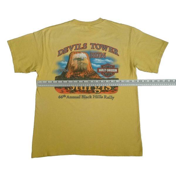 sturgis 2006 harley davidson t shirt devils tower width measurement