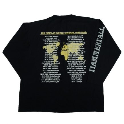 hammerfall vintage 90s concert tour shirt back