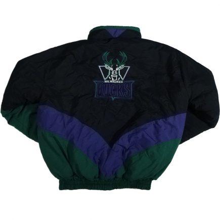 milwaukee bucks vintage delong jacket coat back