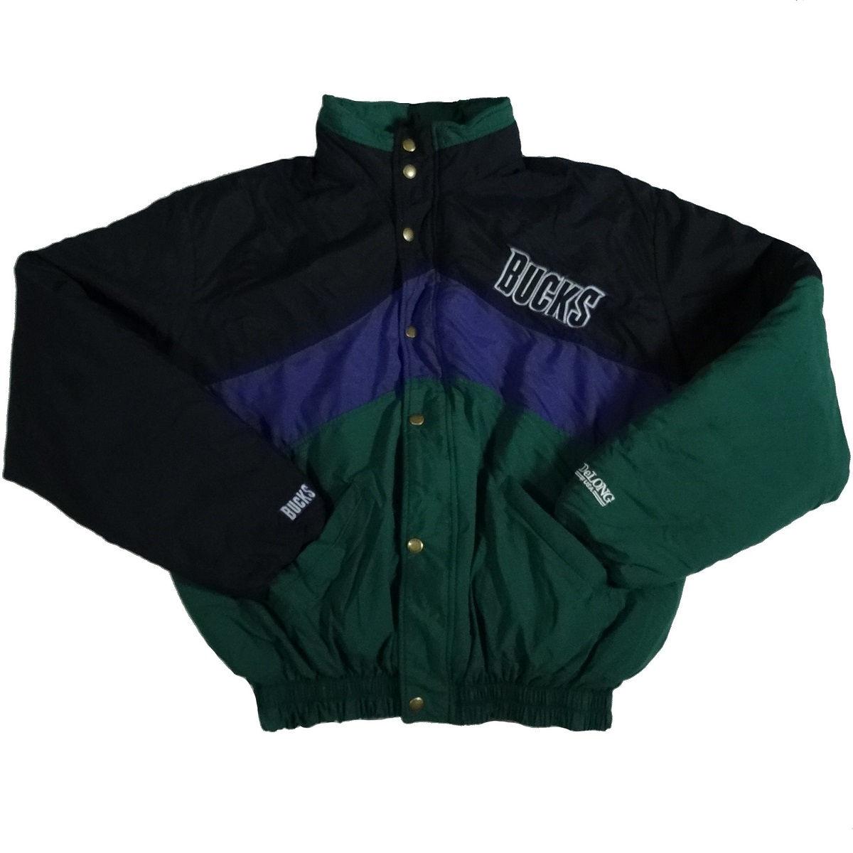 milwaukee bucks vintage delong jacket coat front