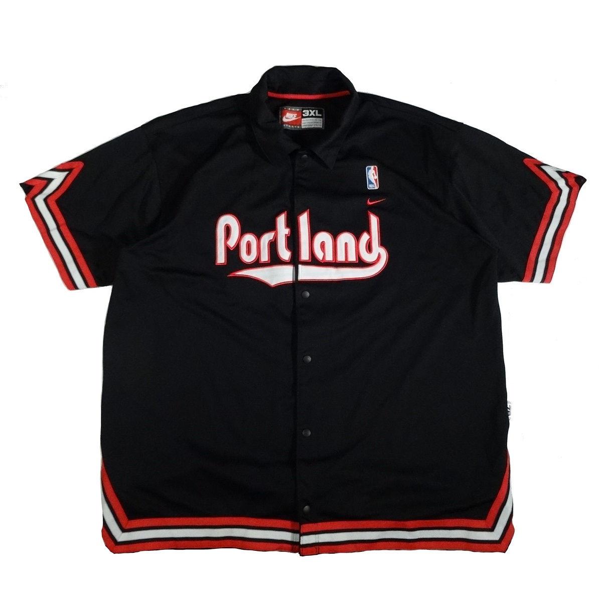 portland trail blazers nike warm up jersey front
