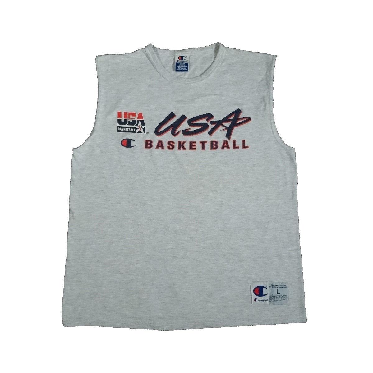 usa basketball dream team vintage sleeveless t shirt front
