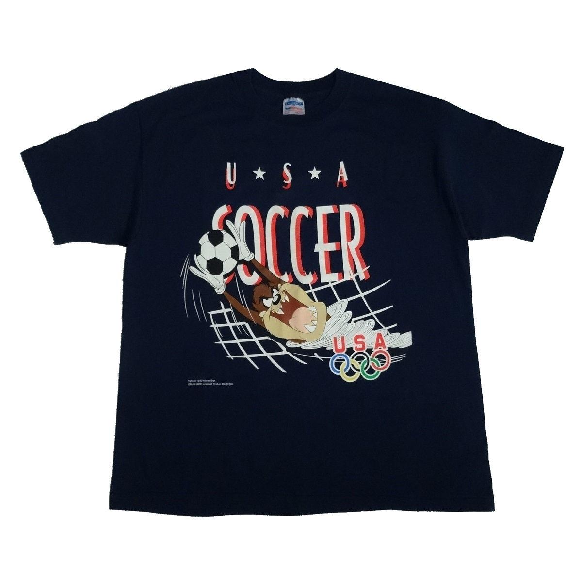 usa soccer taz vintage 90s t shirt front