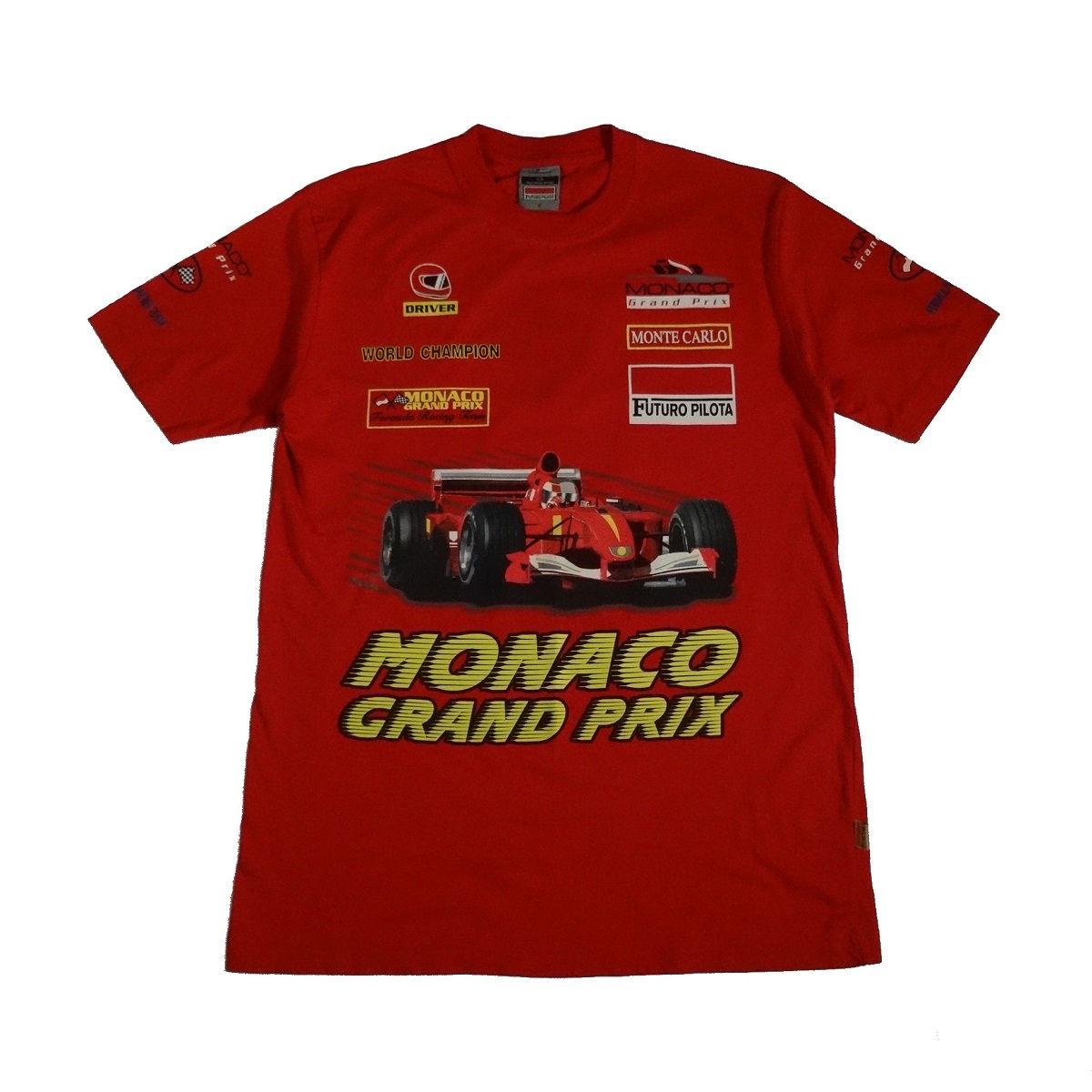 monaco grand prix racing futuro pilota t shirt front