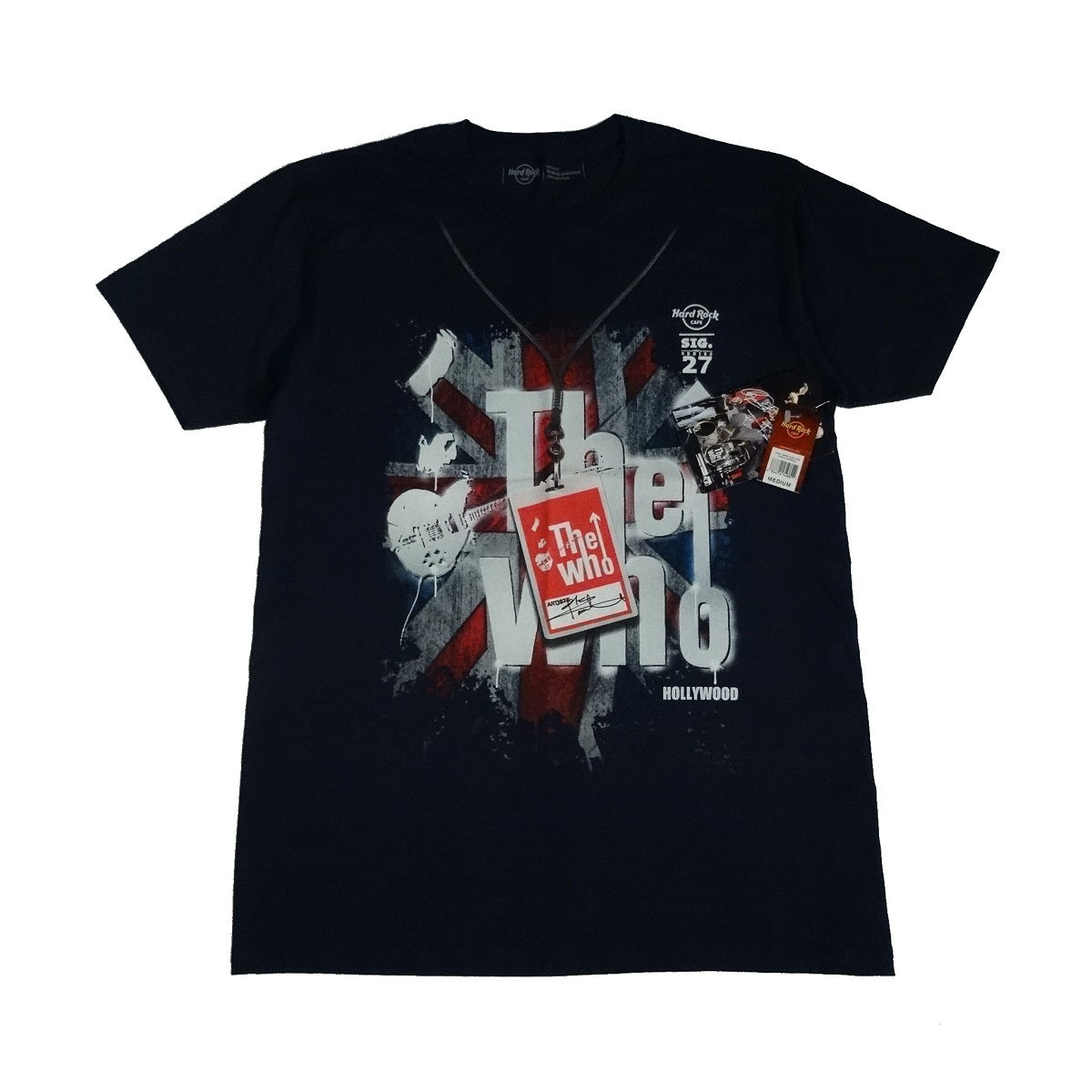 the who hard rock cafe t shirt hollywood front