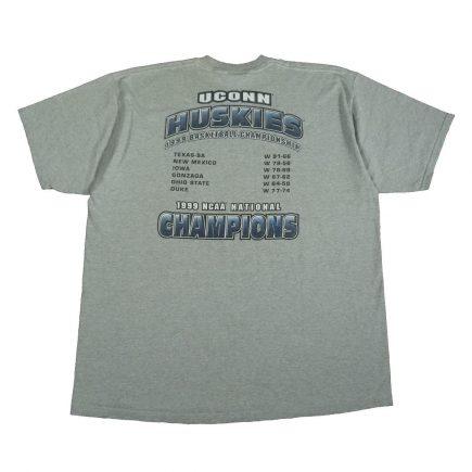 uconn huskies 1999 champions t shirt ncaa basketball back