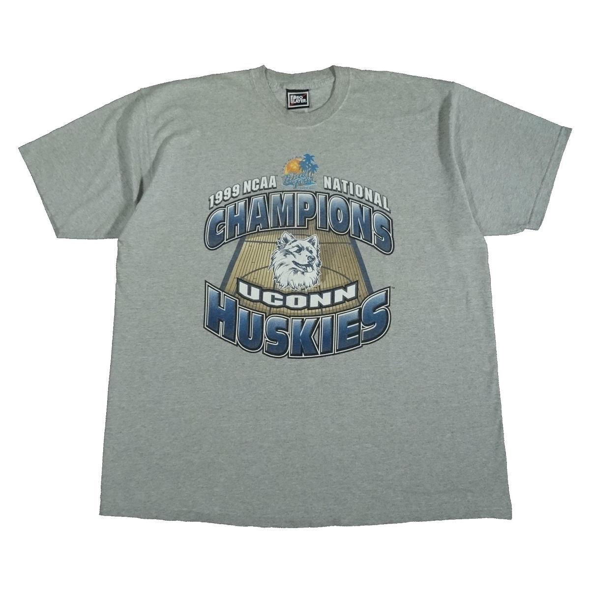 uconn huskies 1999 champions t shirt ncaa basketball front