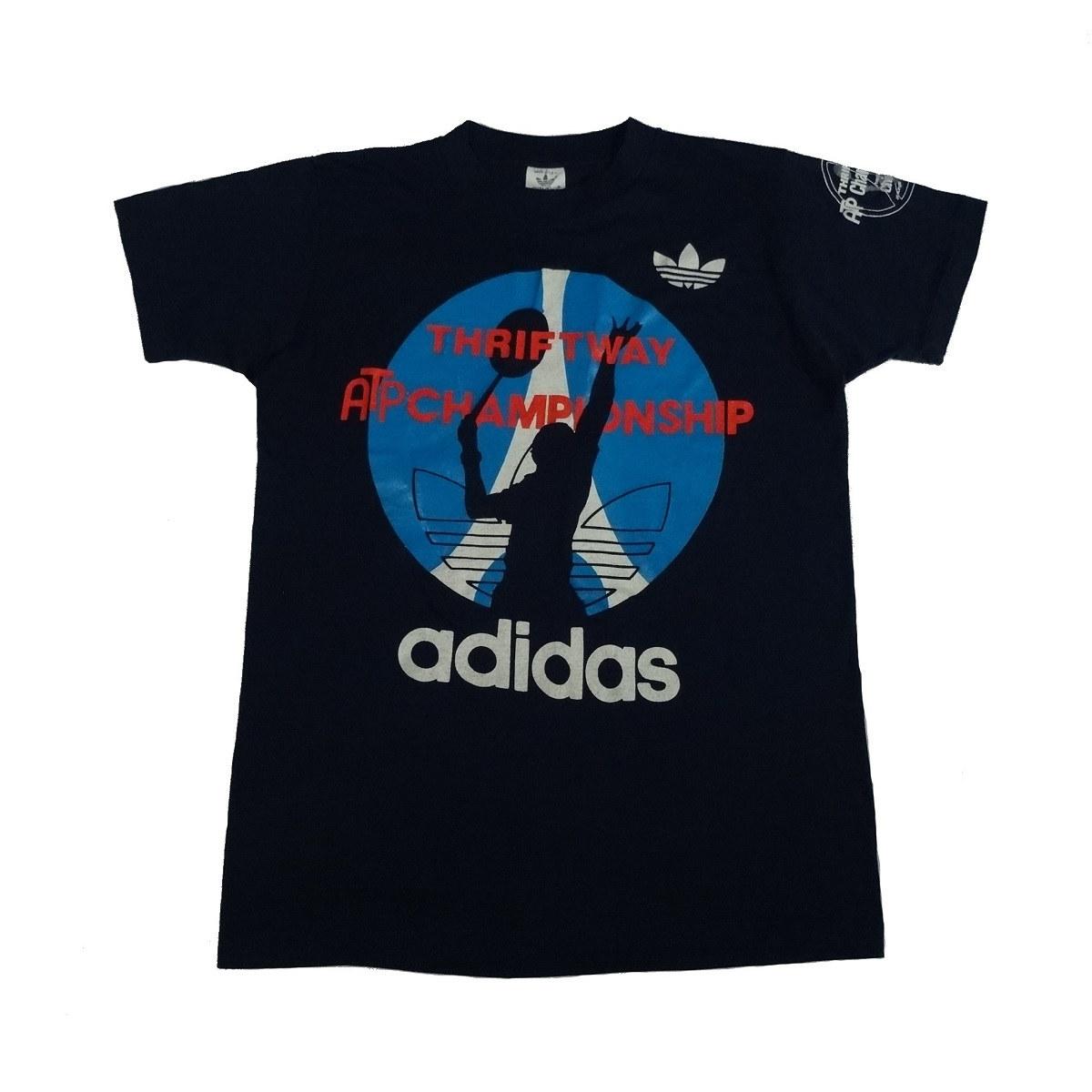 adidas atp championship vintage 80s trefoil t shirt front
