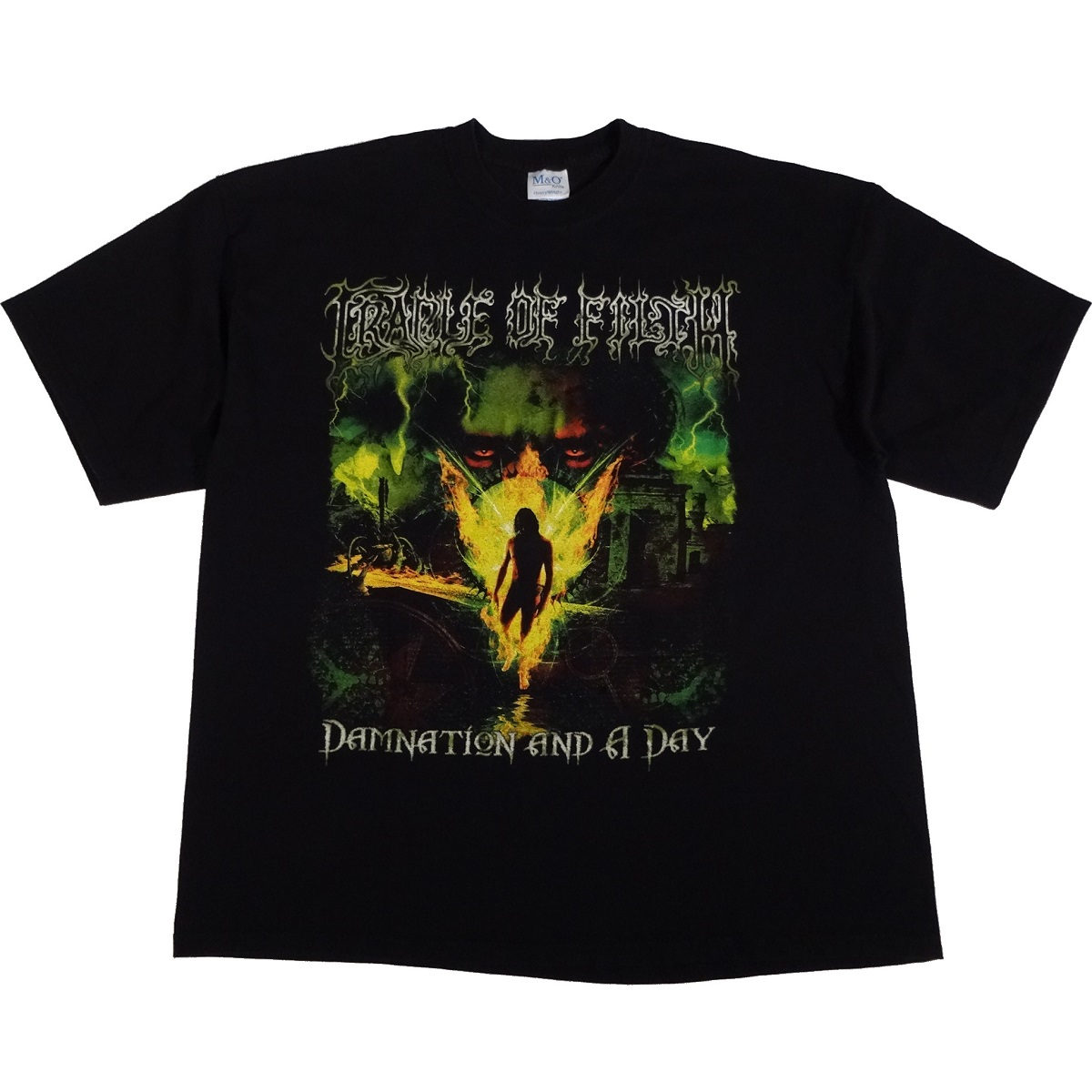cradle of filth damnation and a day t shirt front
