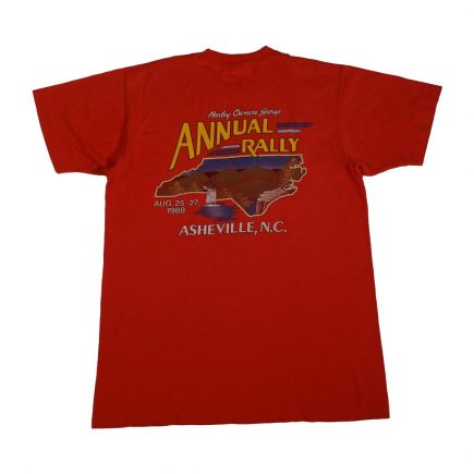 harley davidson owners group asheville vintage 80s t shirt back