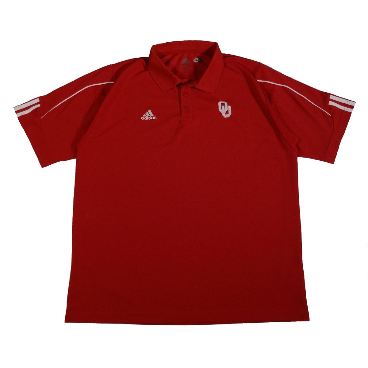 oklahoma sooners adidas polo shirt front