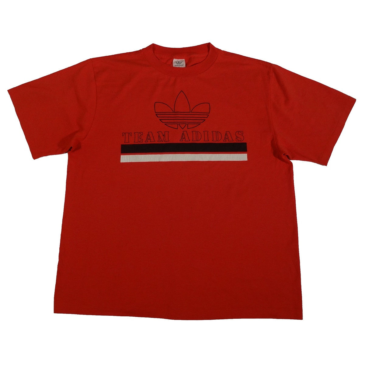 team adidas vintage 80s t shirt front