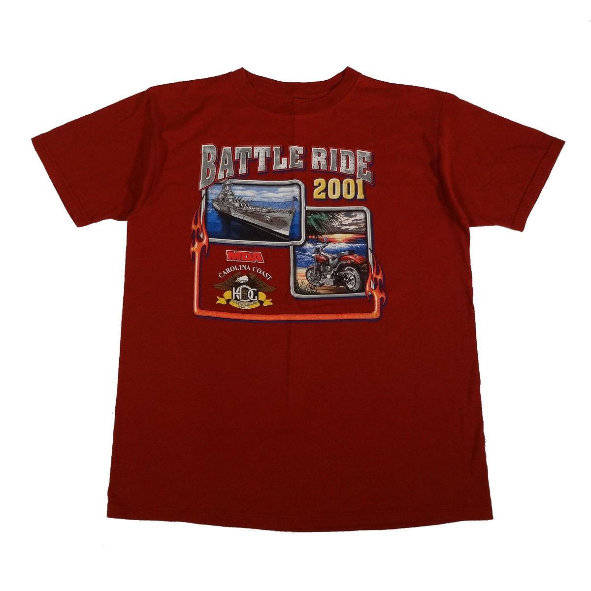 wilmington nc harley davidson vintage battle ride t shirt front