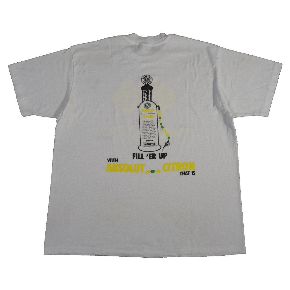 absolut citron vodka vintage t shirt back