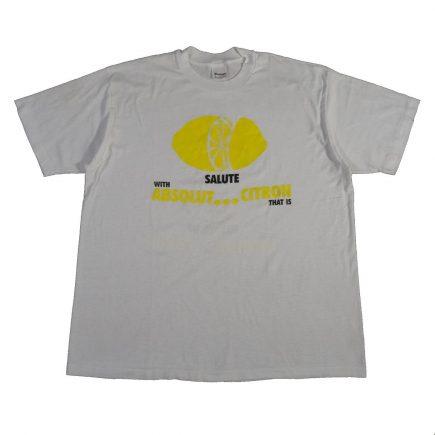 absolut citron vodka vintage t shirt front