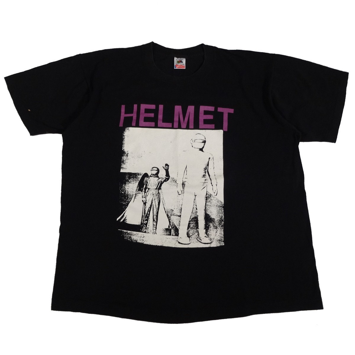 helmet band alien vintage 90s t shirt front
