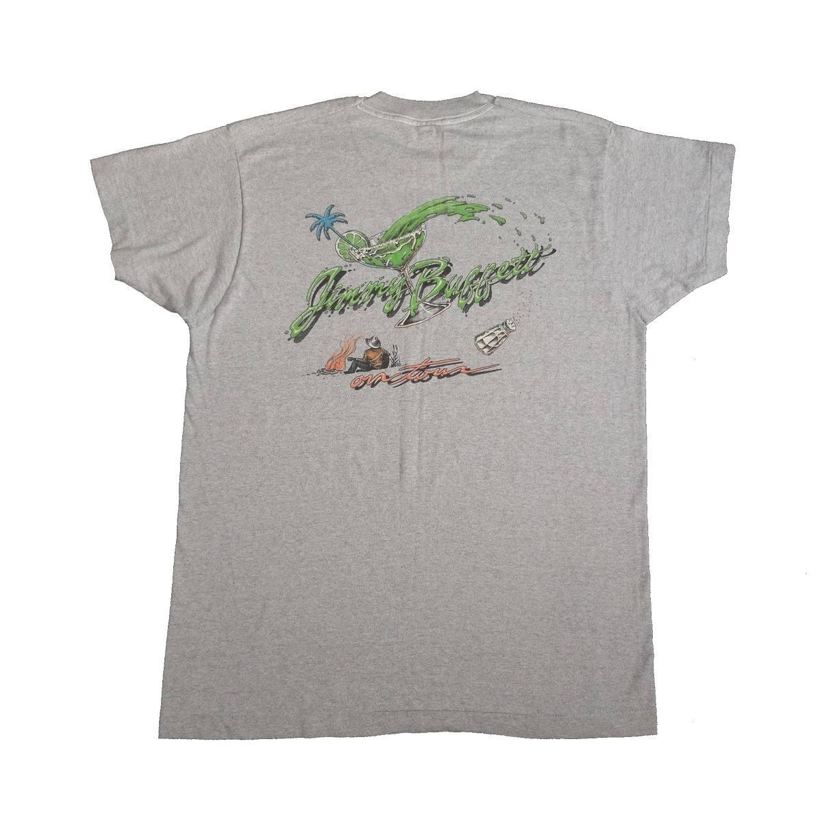 jimmy buffett last mango in paris tour vintage 80s t shirt back