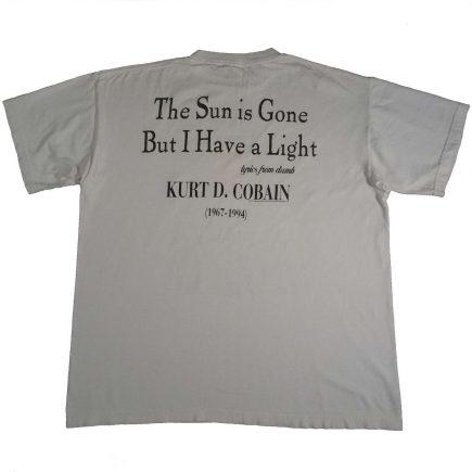 kurt cobain memorial vintage 90s t shirt back