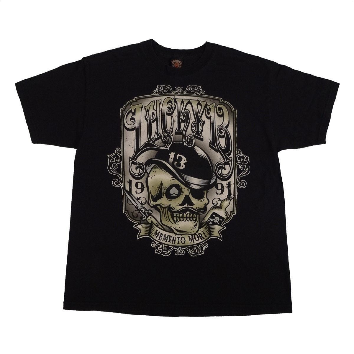 lucky 13 memento mori t shirt front